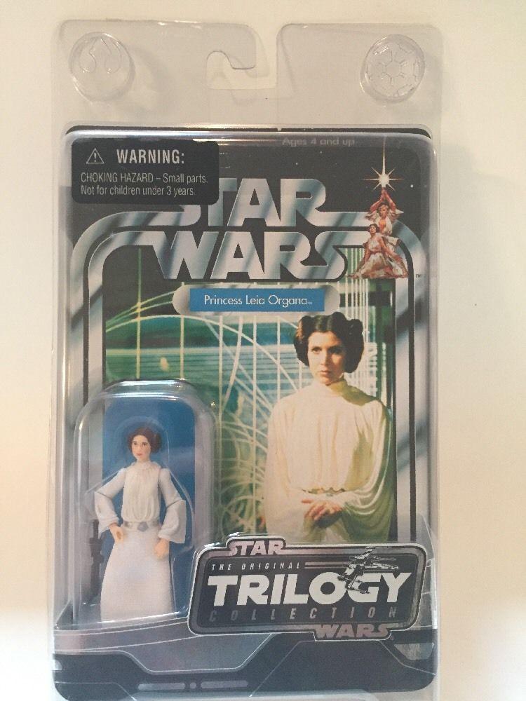 Star Wars Vintage Style Original Trilogy Collection Otc Princess Leia Mosc Ebay Vintage Star Wars Princess Leia Leia