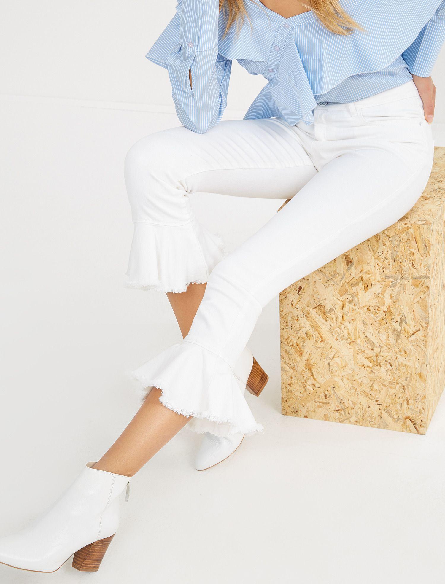 Koton Koton Kadin Fahriye Evcen For Koton Jeans Pantolon Moda Stilleri Pantolon Kadin