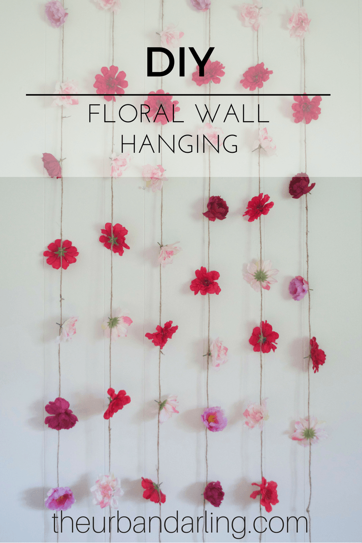 Flower Wall Hanging Diy In 2019 Hanging Flower Wall
