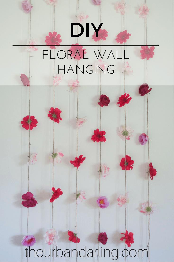 Home decor artificial flowers  Flower Wall Hanging DIY  Walls  Pinterest  Floral wall Diy