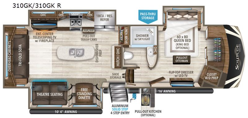 New 2020 Grand Design Solitude 310gk Fifth Wheel At Pleasureland