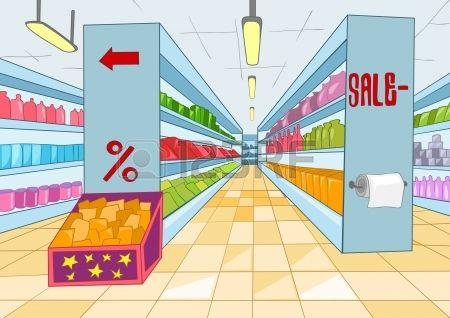 Supermarket Cartoon Fondos De Dibujos Animados Tutorial De Dibujo Fondos De Escenarios