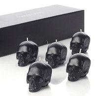 Company Set Of 5 Mini Skull Candles