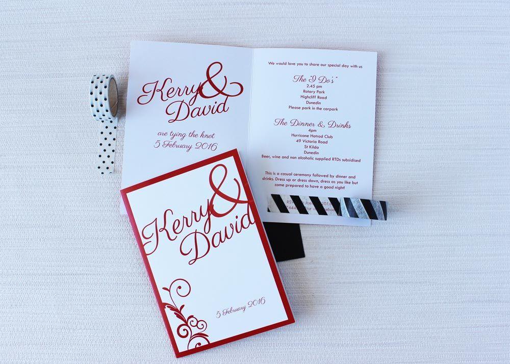 red ampersand wedding invitations Red Ampersand