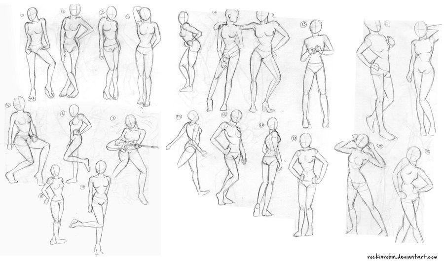 Female Figure Sketches By Rockinrobin Pose Study Figure