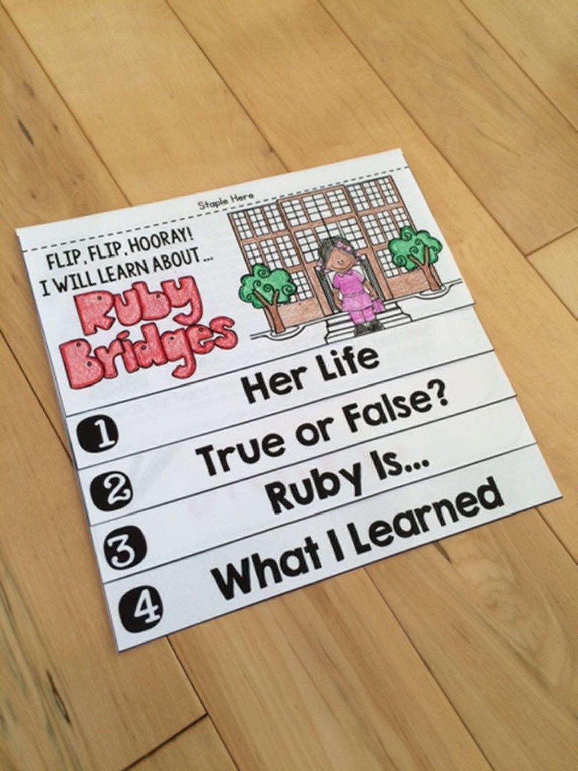 Ruby Bridges Flip Book No Prep Plus Colored Poster