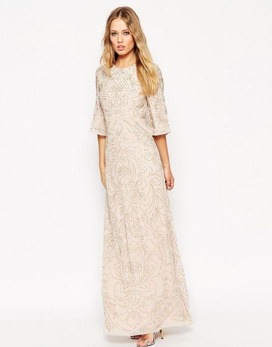 Asos sequin dress maxi muslimah
