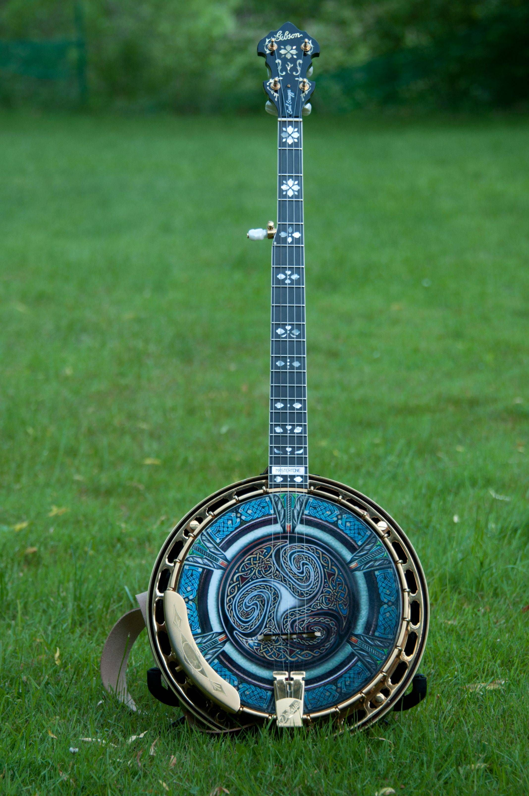 '93 Gibson Earl Scruggs Golden Deluxe 5-String Banjo with a custom made head #Heath