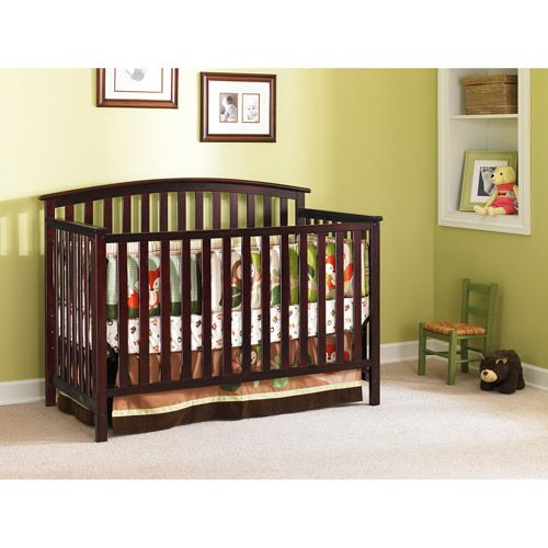 Graco Freeport Convertible Crib (Your Choice Of Finish) With Bonus Crib  Mattress Walmart