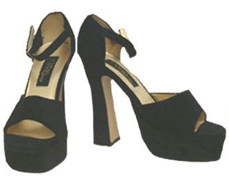 Are these Sexy Black Velvet Platform Shoes your style?