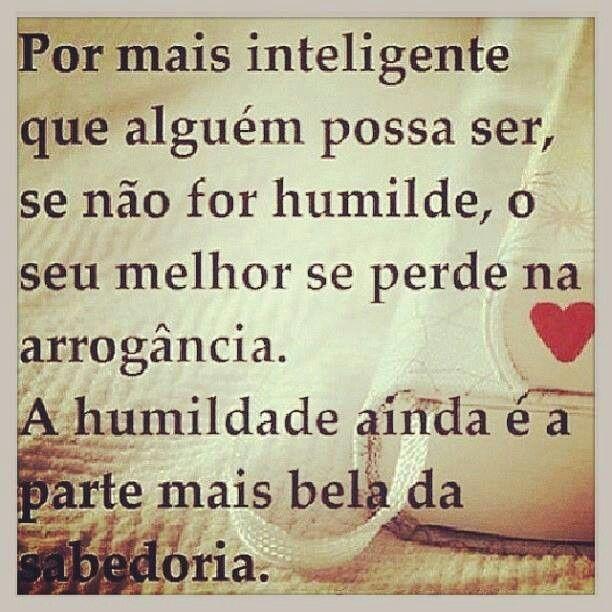 Humildade...sabedoria...