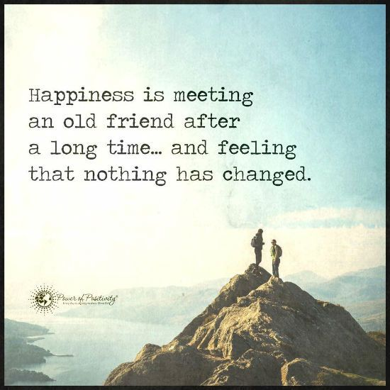 Quotes On Meeting Someone Special After A Long Time: Happiness Is Meeting An Old Friend After A Long Time And