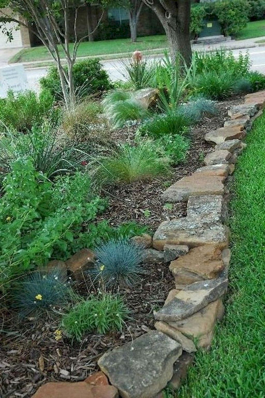 90 Best Side House Garden Landscaping Decoration Ideas With Rocks Easy Landscaping Backyard Landscaping Landscape Design Landscaping ideas for side of house with slope