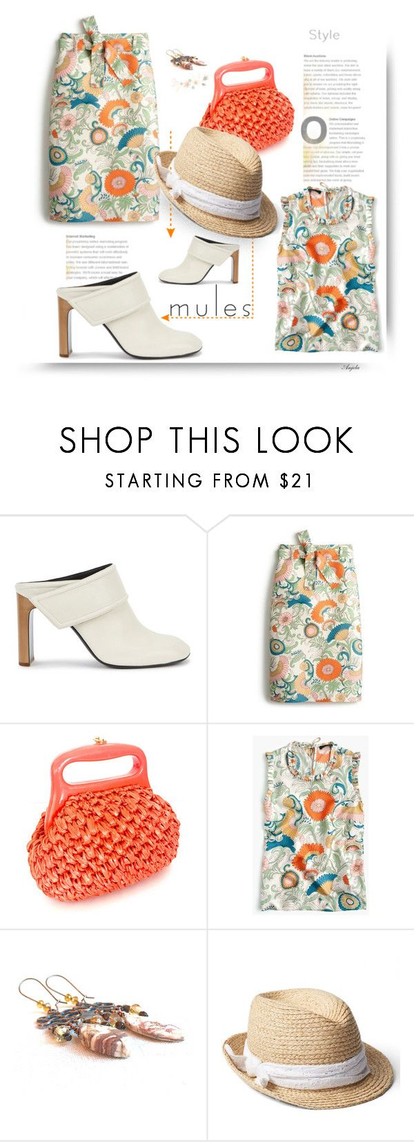 """""""Slip 'Em On Mules ... Walk the Walk"""" by anjelakewell ❤ liked on Polyvore featuring rag & bone, J.Crew, Trilogy, Gap, mules and polyvorecontest"""