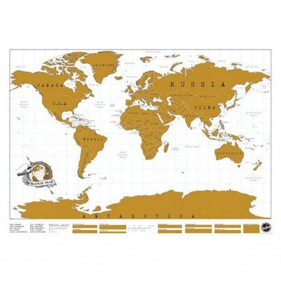 carte du monde à gratter travel world xxl | home & garden