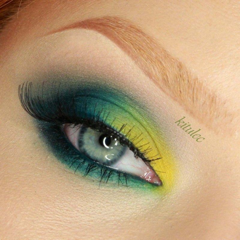 SLEEK DEL MAR II - BOLD BRIGHT GREEN EYES Makeup Tutorial