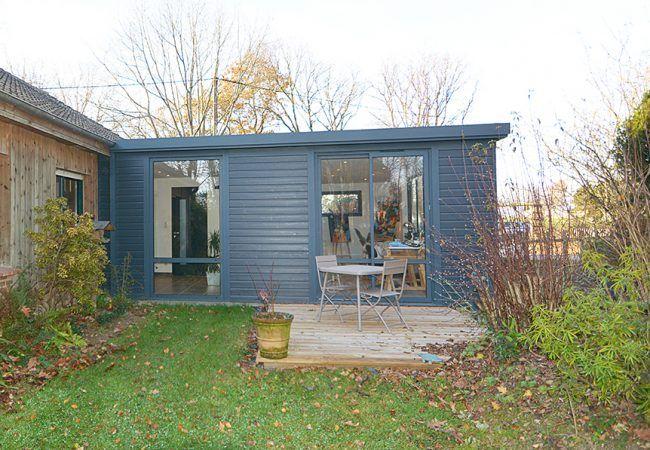 Extension Toit Plat Pour Atelier Dartiste Home Pinterest - Extension garage toit plat