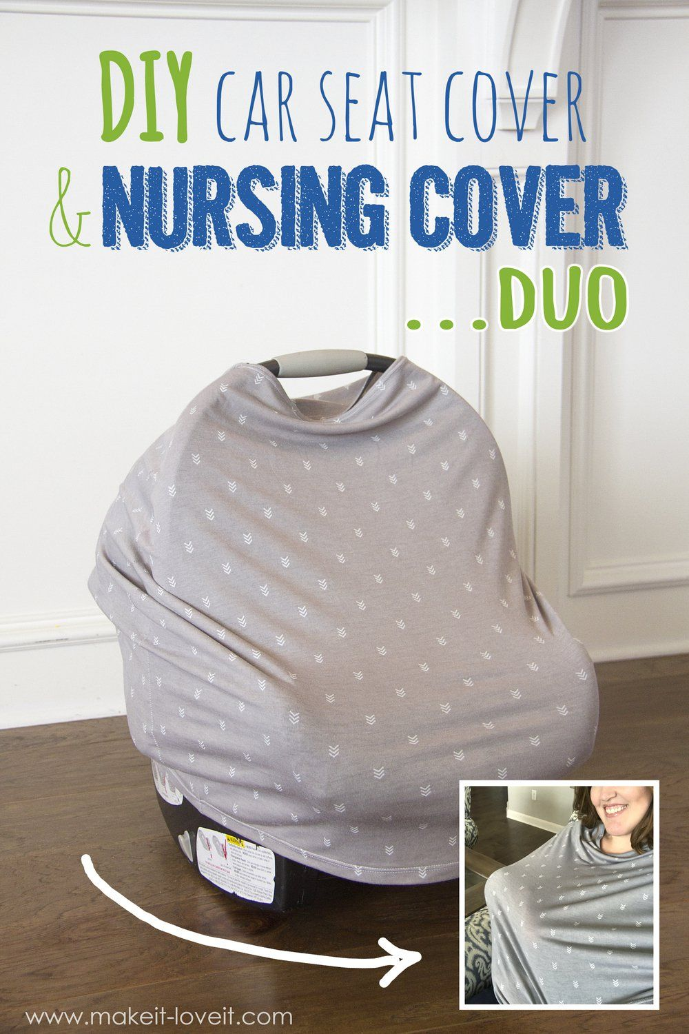 DIY: Stretchy Car Seat Cover and Nursing Cover DUO   Pinterest