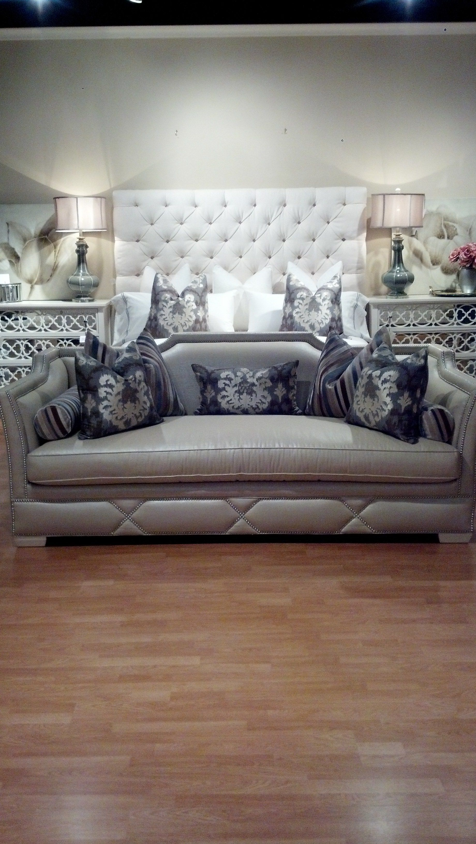 Bernhardt Porter Bed and Hickory White Waslin Sofa and