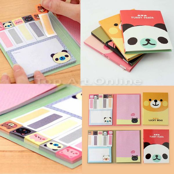 1Set Cute Stickers Bookmark Memo Paper Notice Flags Tab Sticky Notes Stationery