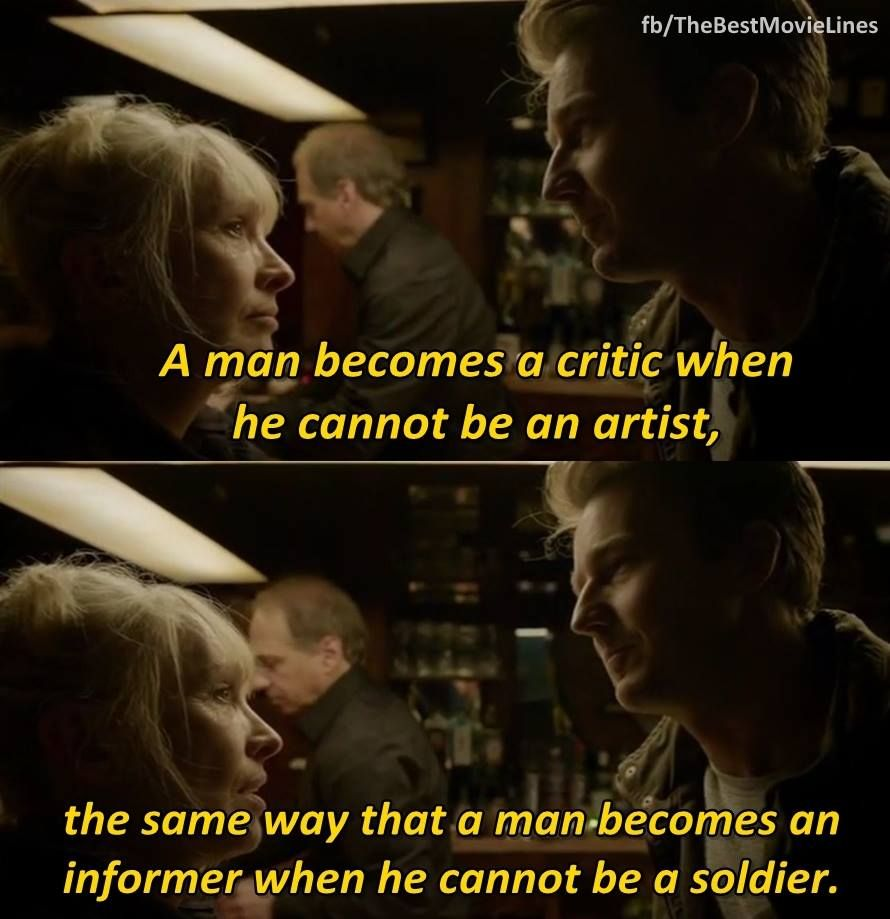 """Edward Norton Quotes: """"A Man Becomes A Critic When He Cannot Become An Artist"""