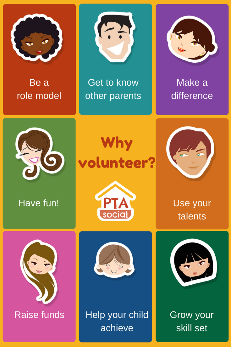 PTA Posters to Share | PTAsocial - reasons to volunteer! # ...