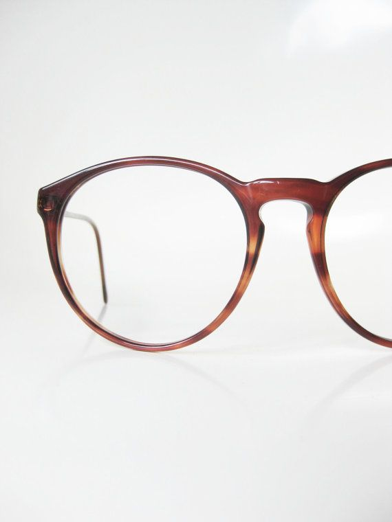 53c1983d978fe Vintage Round Eyeglasses Italian Womens Eyeglass Frames Ladies Glasses  1960s 60s Mid Century Modern Mad Men Chic Tortoiseshell Brown