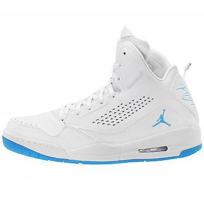 new concept 1e79e 0cd53 Nike Air Jordan SC-3 Premium Mens 641444-107 White Powder Blue Shoes Size 12
