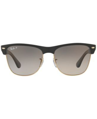 c91d47eca1d Ray-Ban Polarized Clubmaster Oversized Sunglasses