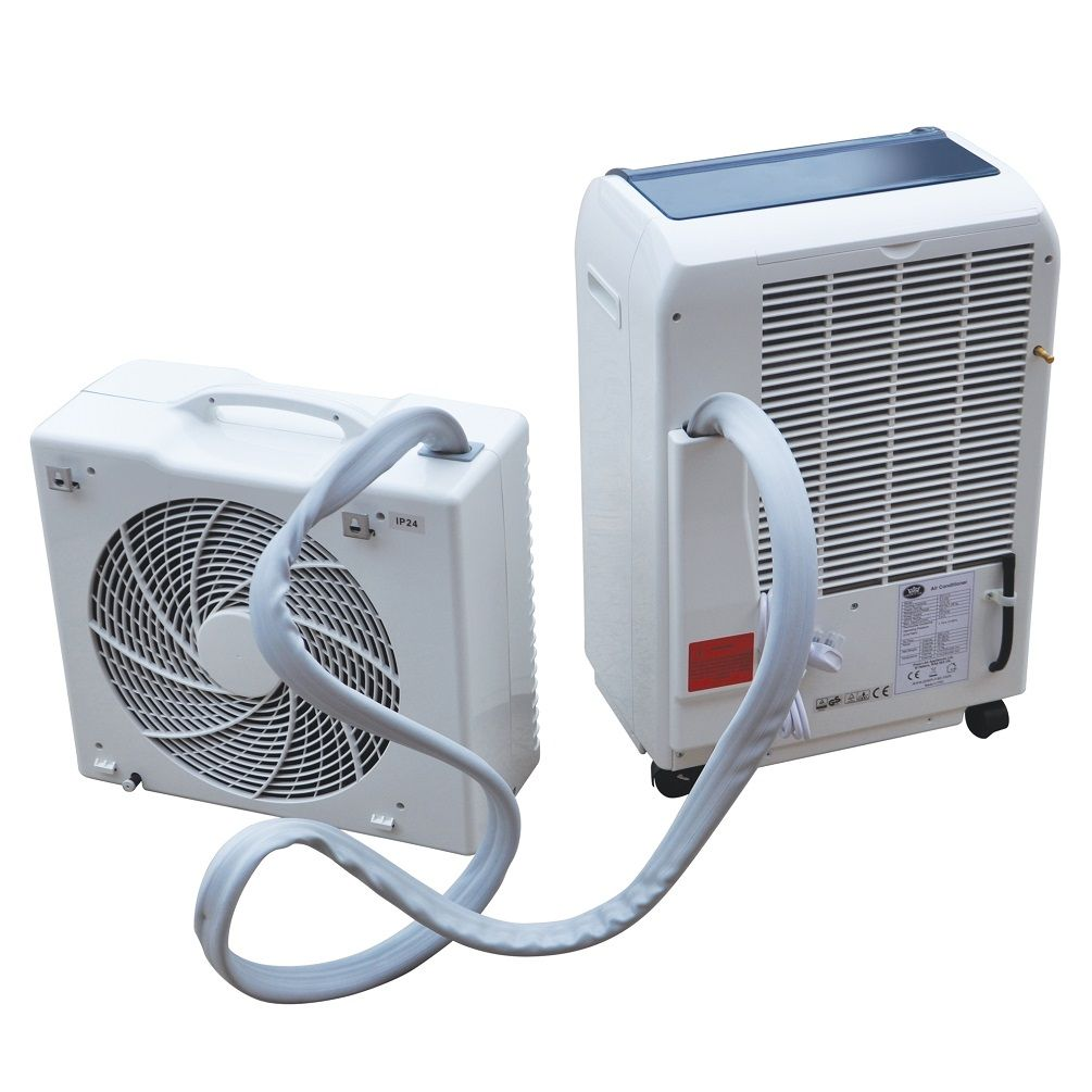 Portable 15000 Btu Split Air Conditioner With Remote And Timer Mobile Air Conditioner Portable Air Conditioner Air Conditioner