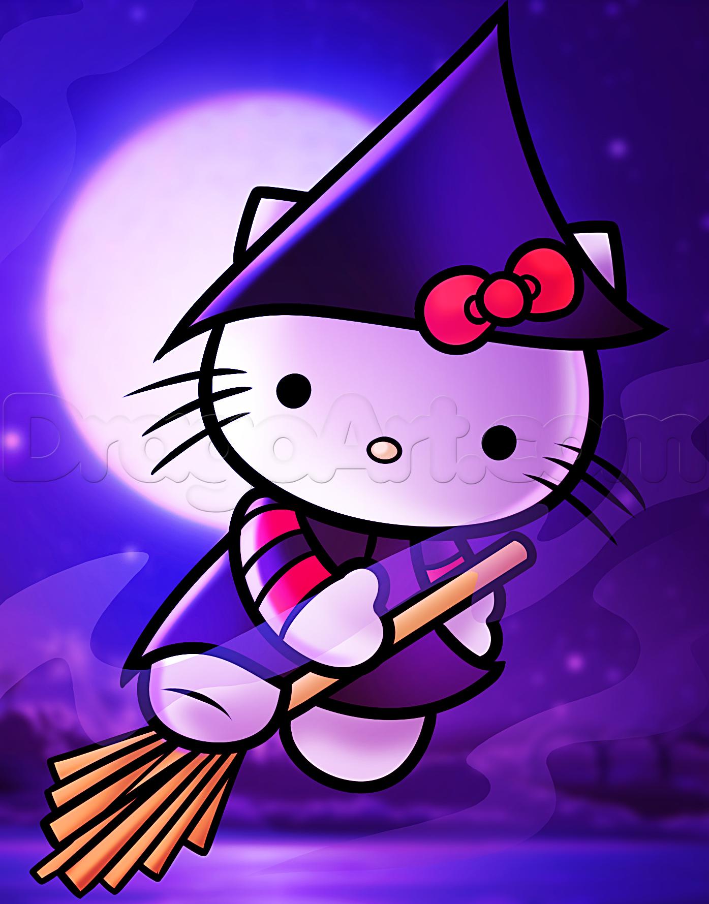 how to draw halloween hello kitty | So Cute! | Pinterest | Dibujos ...