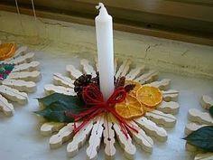 Decorazioni Natalizie Con Mollette Di Legno Lavoretti Di Natale Una