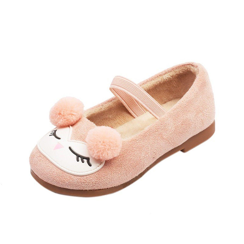 Spring Autumn Girls Shallow Mouth Plus Velvet Princess Shoes Little