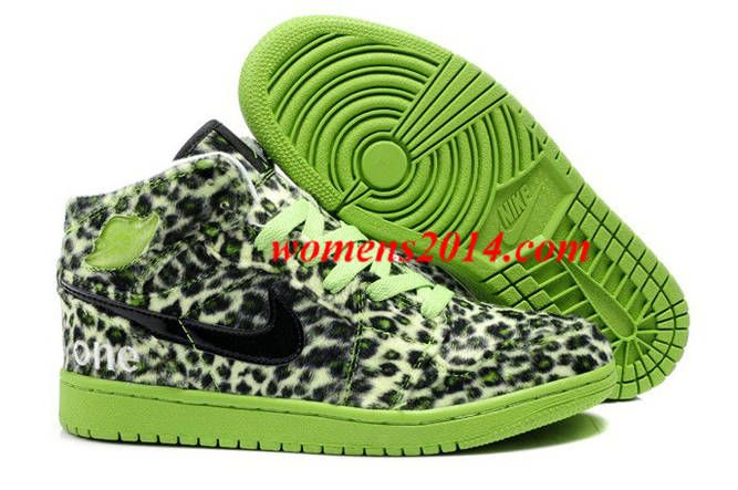 To Buy Air Jordan 1 I Leopard Mens shoes Fur Inside For Winter Online Cheap  Green