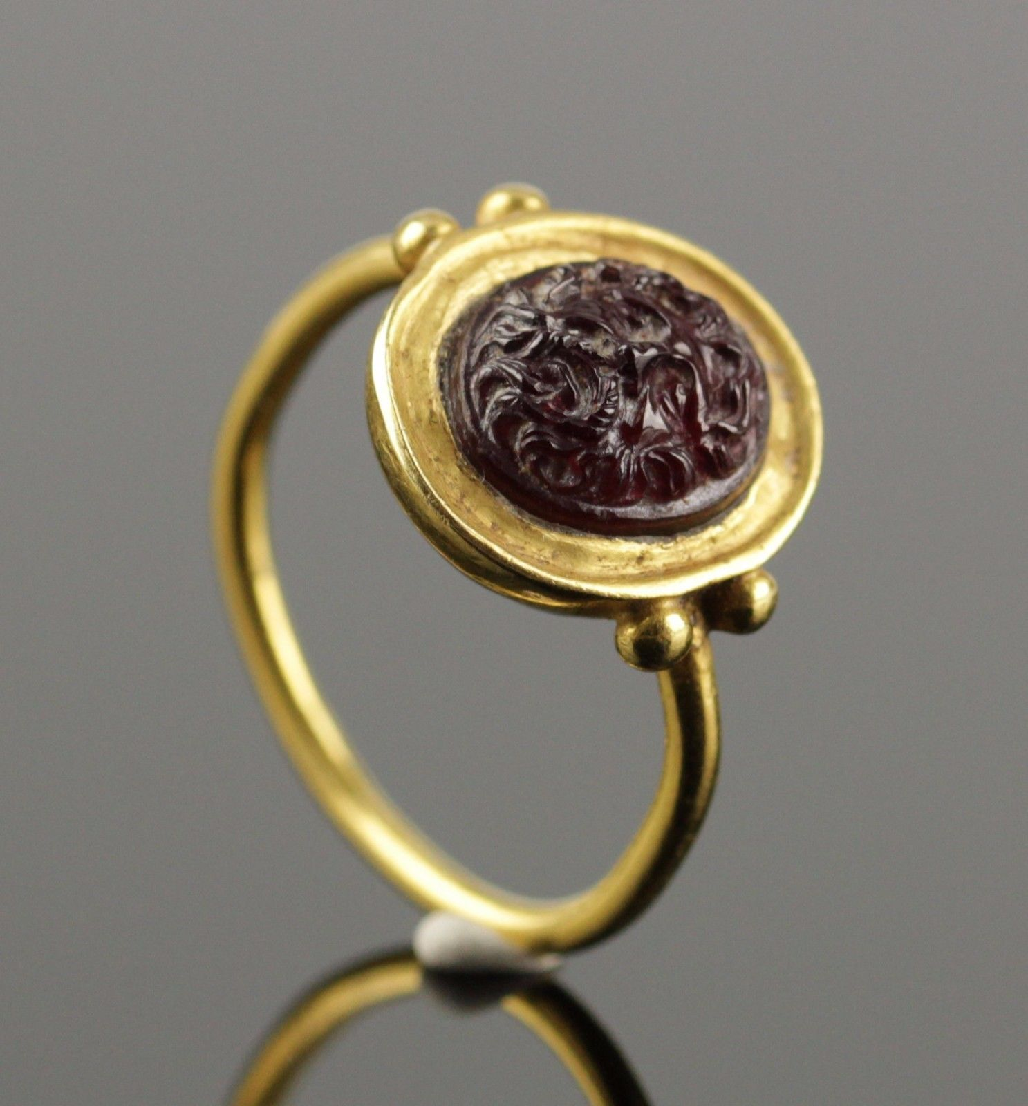 Ancient Roman Rings details about gold roman ring, intaglio of a rooster