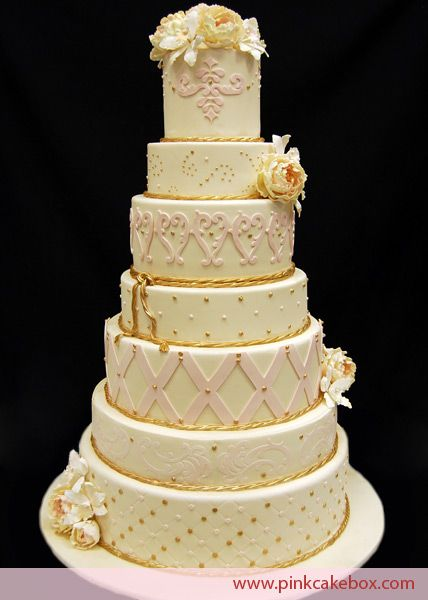7 Tier Wedding Cake By Pink Box