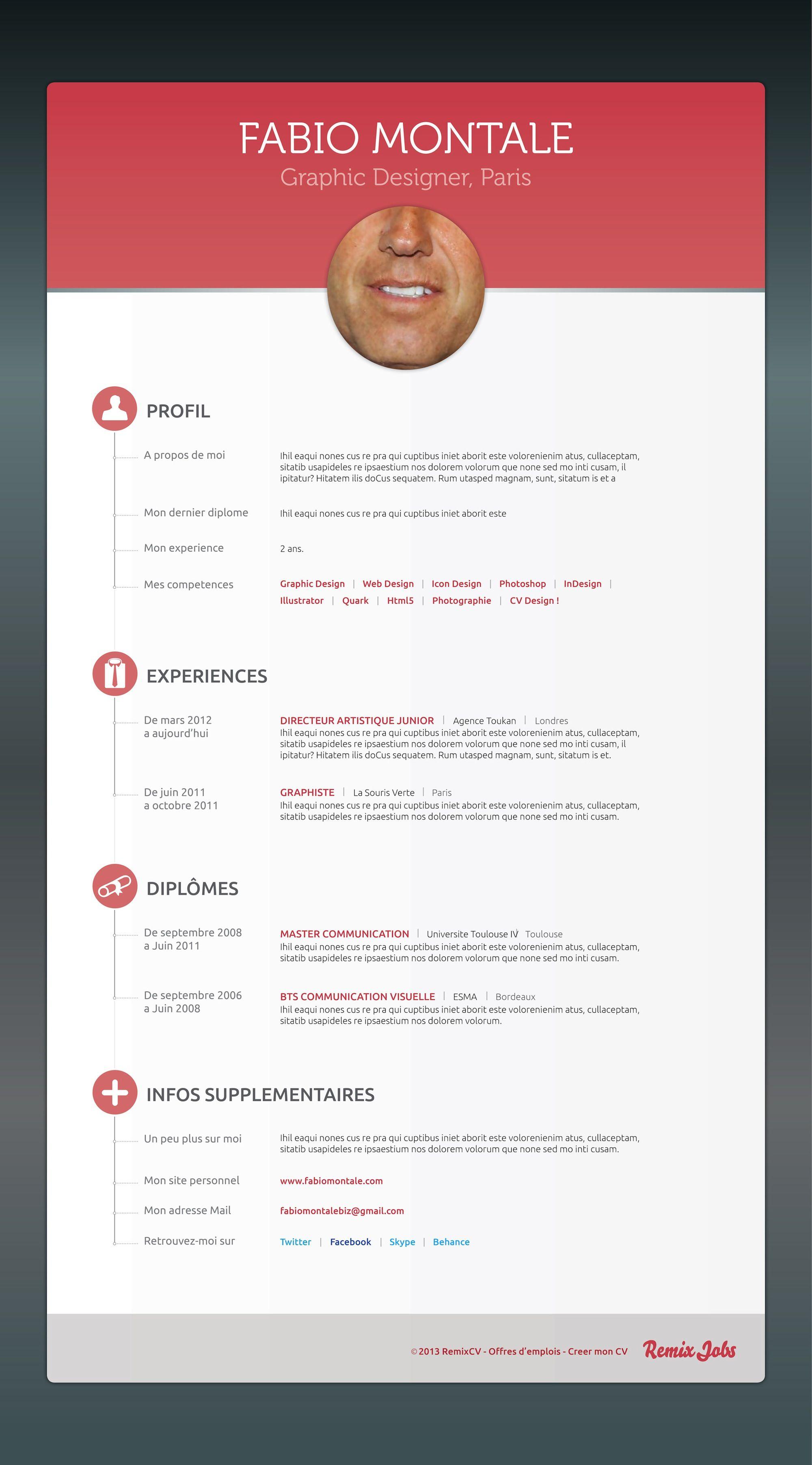 Http Remixjobs Com Blog Wp Content Uploads 2013 07 Fabio Montale Web Jpg Cv Creatif Offre Emploi Graphic Designer