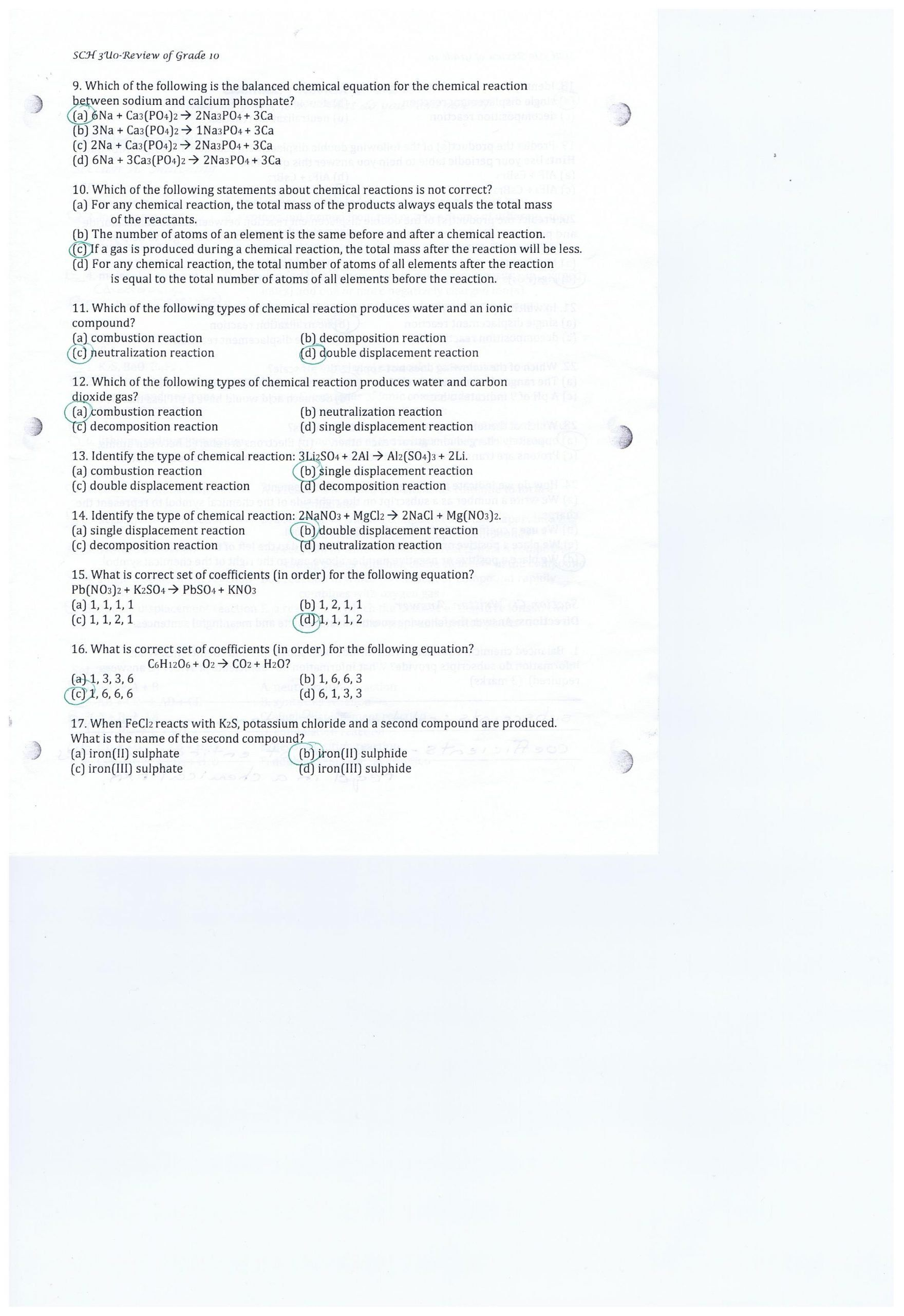 Introduction To Stoichiometry Worksheet Sch 3u0 A