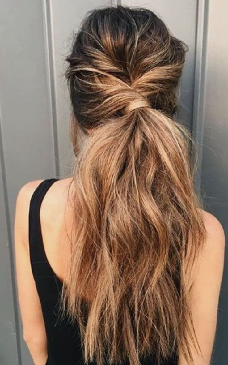 Pin By Salty Tribe Co On Hair Hair Styles Long Hair Styles Twist Ponytail