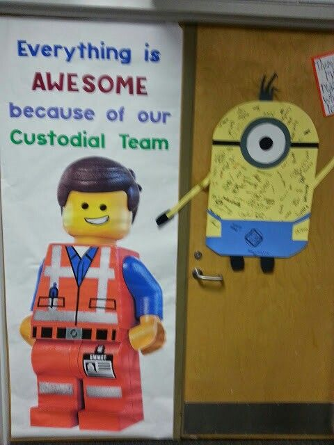 Emmet door banner for Custodian's Day! #custodianappreciationgifts