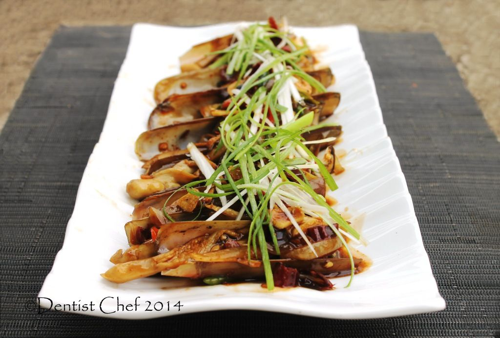 Recipe Stir Fried Razor Clams with Oyster Sauce (Resep