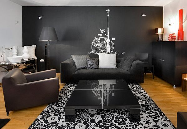 Unique Decorating Walls Ideas For A Lasting Impression Black Living Room Living Room Paint Living Room Decor Gray