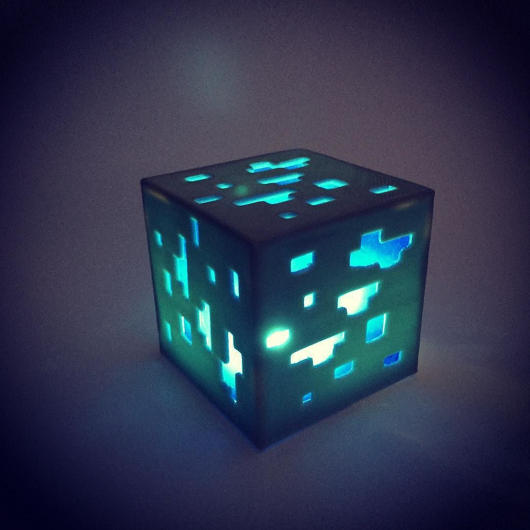 For All Those Minecraft Fans Out There...Minecraft Diamond Ore Lamp # Minecraft