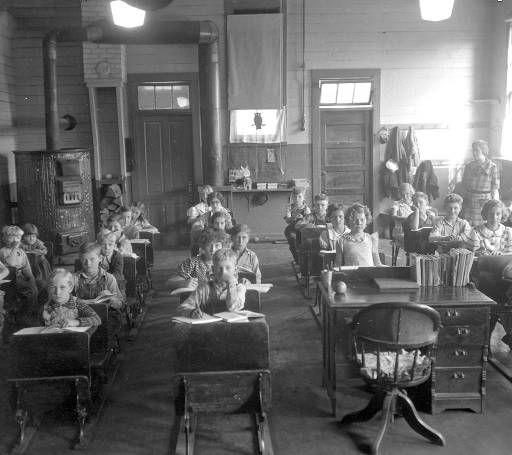 Students Teacher In Classroom At Old Eola School Eola Polk