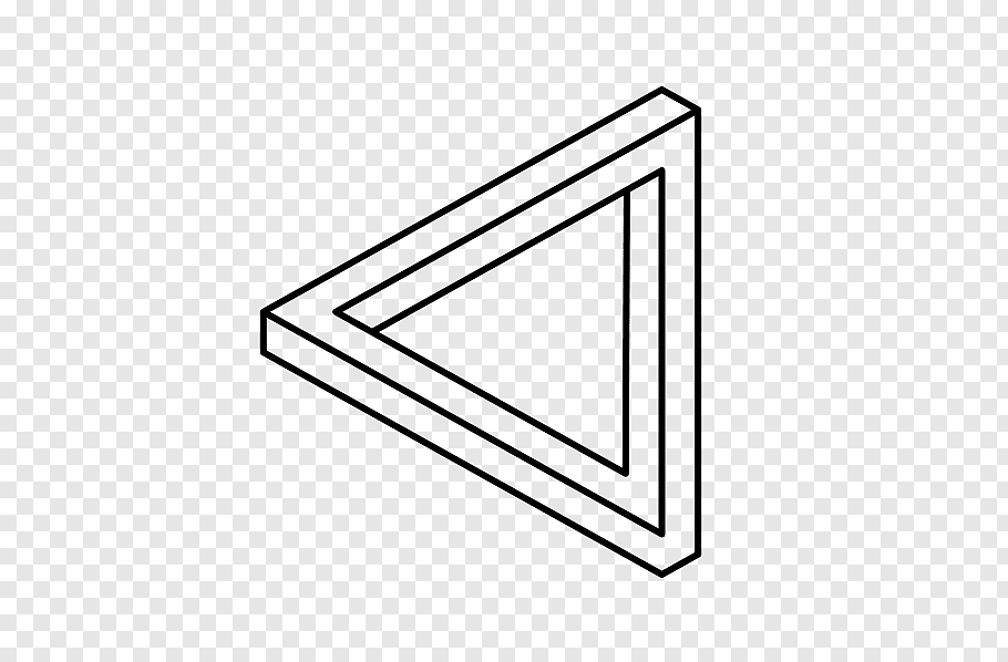 Likes Black Triangle Png Triangle Drawing Triangle Optical Illusion Grey Abstract Art