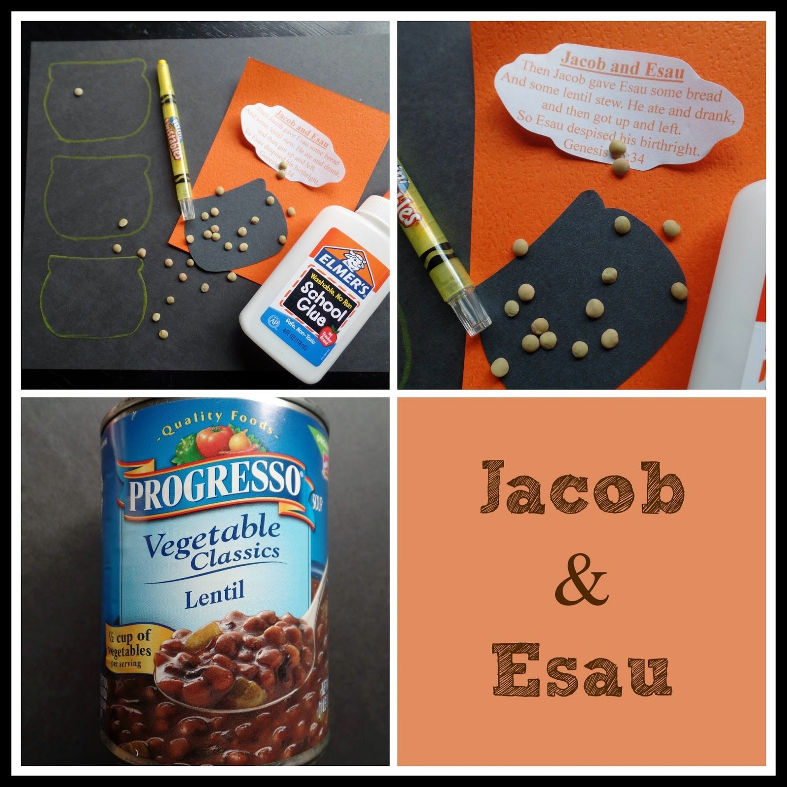 April 39 s homemaking simply sunday school jacob and esau for Jacob and esau crafts