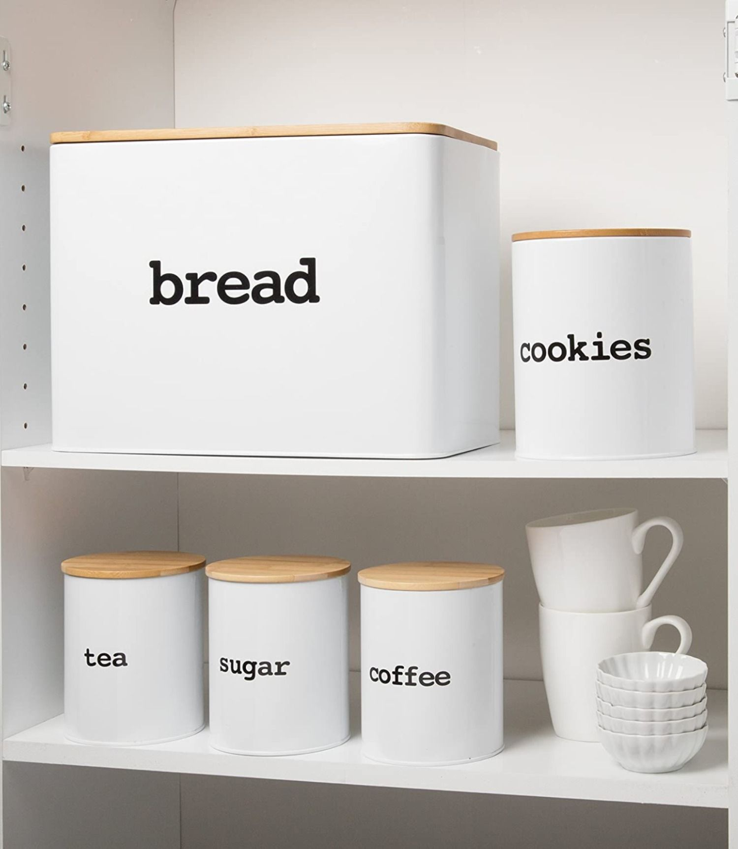 Bread box 4 piece kitchen canister set in 2020 airtight