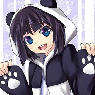 Panda Girl 3 Panda Cute Anime Blackandwhite Kawaii Kyeopta Animais Kawaii Nanatsu Anime