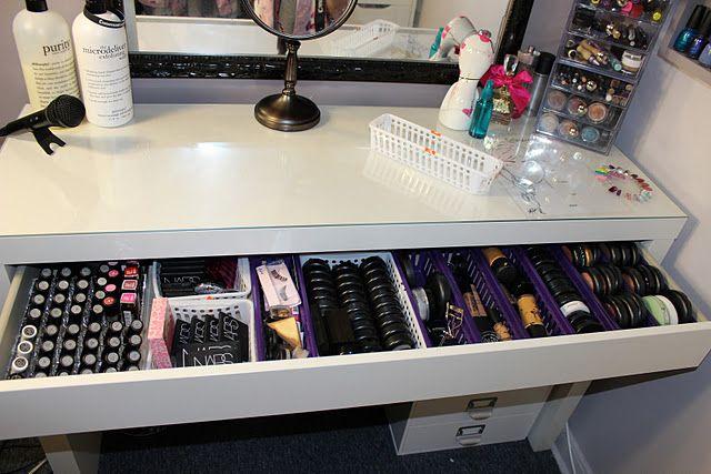 Pin By Brenda Hampton On Home Closet Makeup Storage Malm Dressing Table Ikea Malm Dressing Table Ikea Malm Table