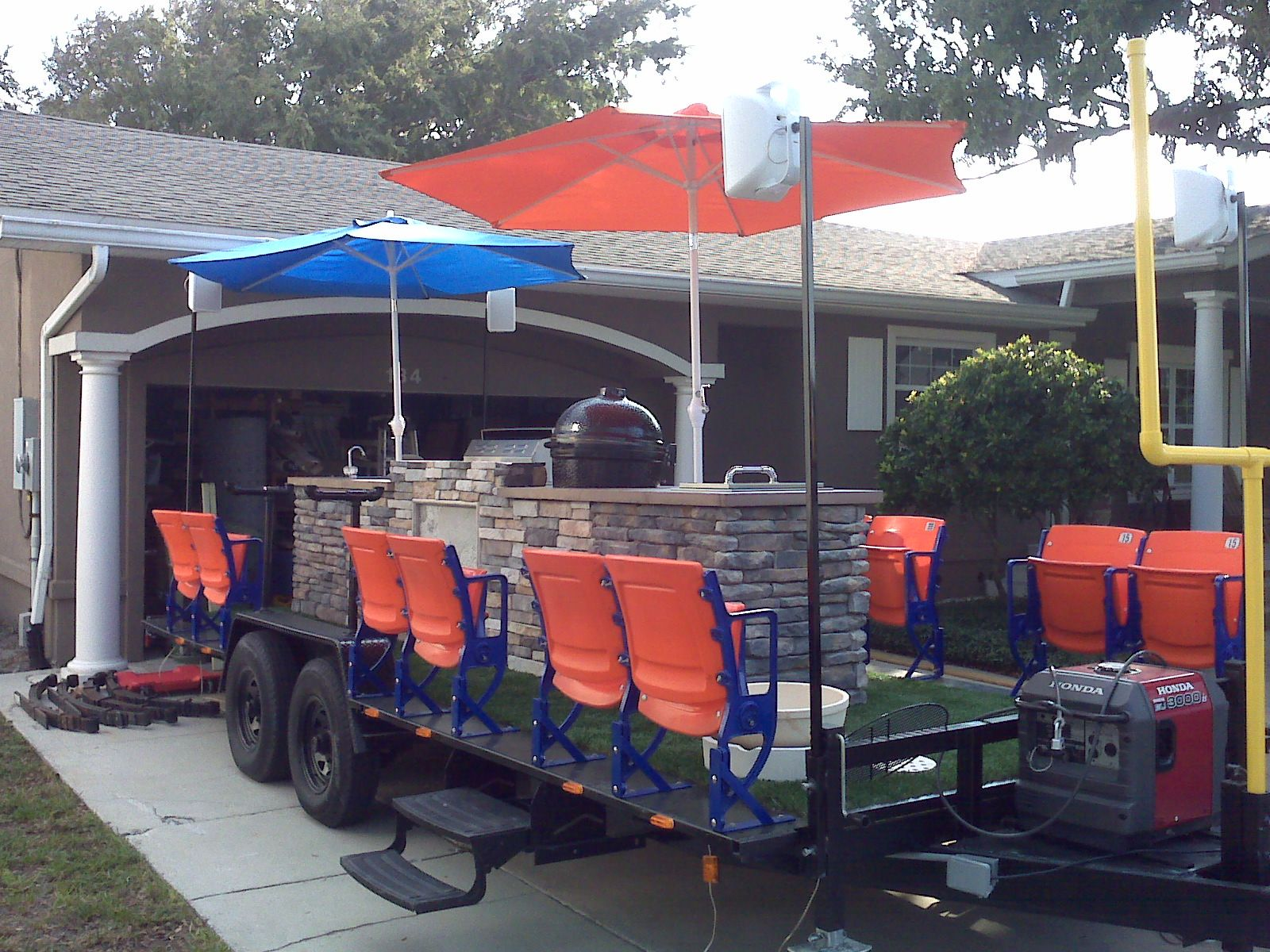 StadiumSeating.net customer: Coolest tailgate trailer ever ...